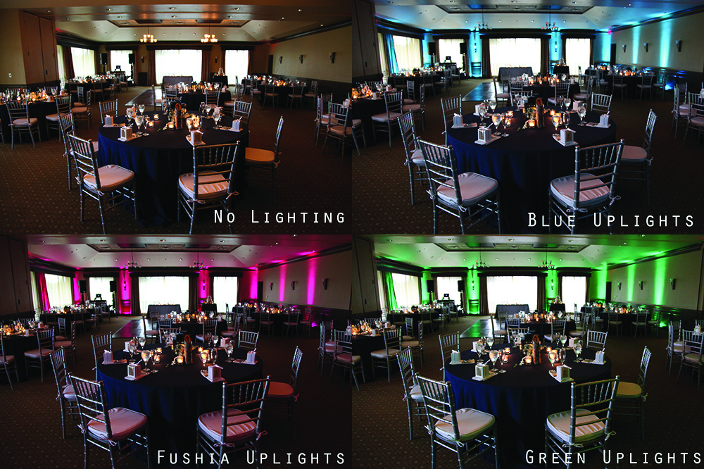 Uplighting Can Change a WEdding recepetion